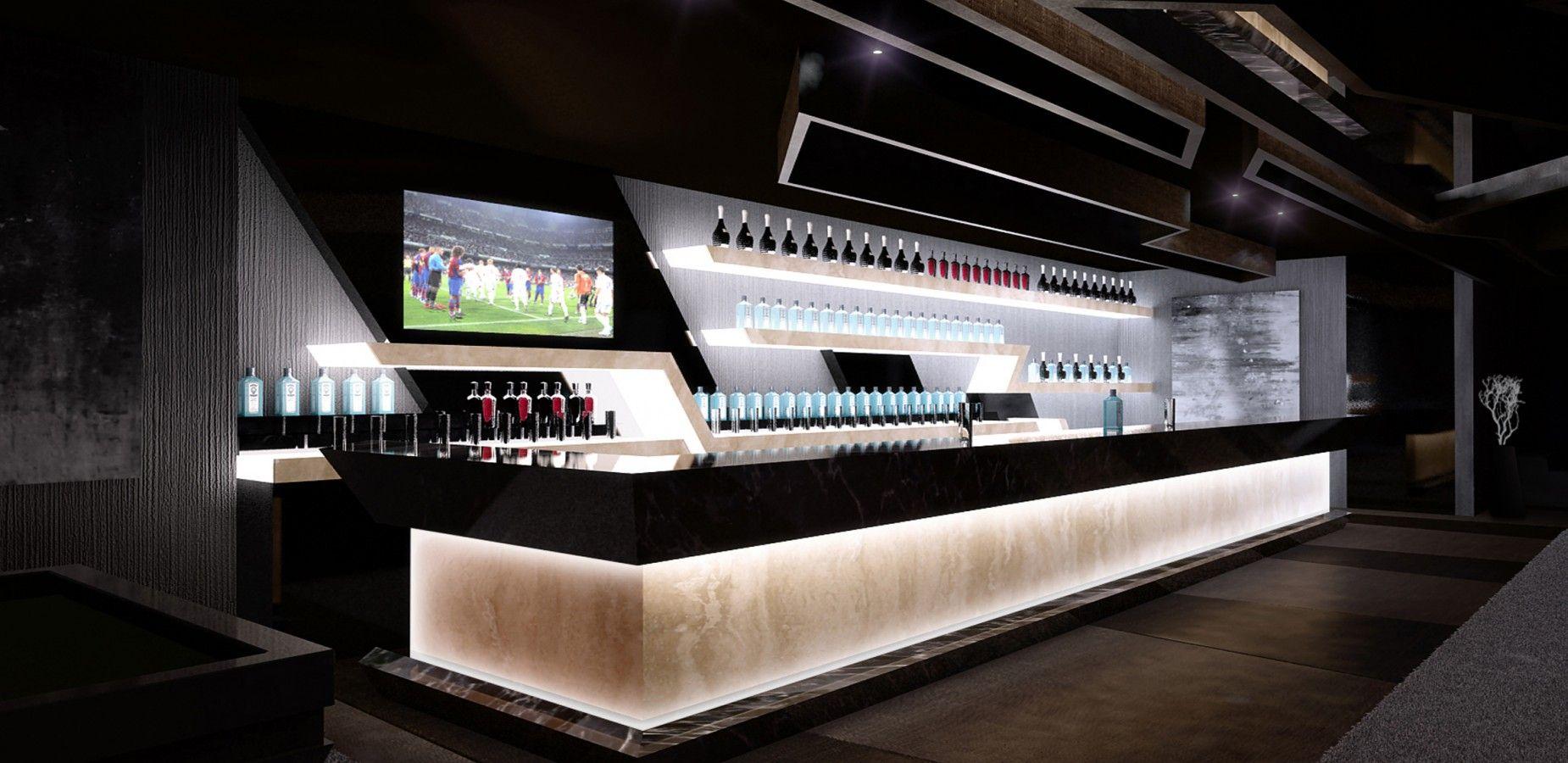 Lounge bar dise o de interiores interiorismo a cero in a cero estudio de arquitectura y - Barras de bar de diseno ...