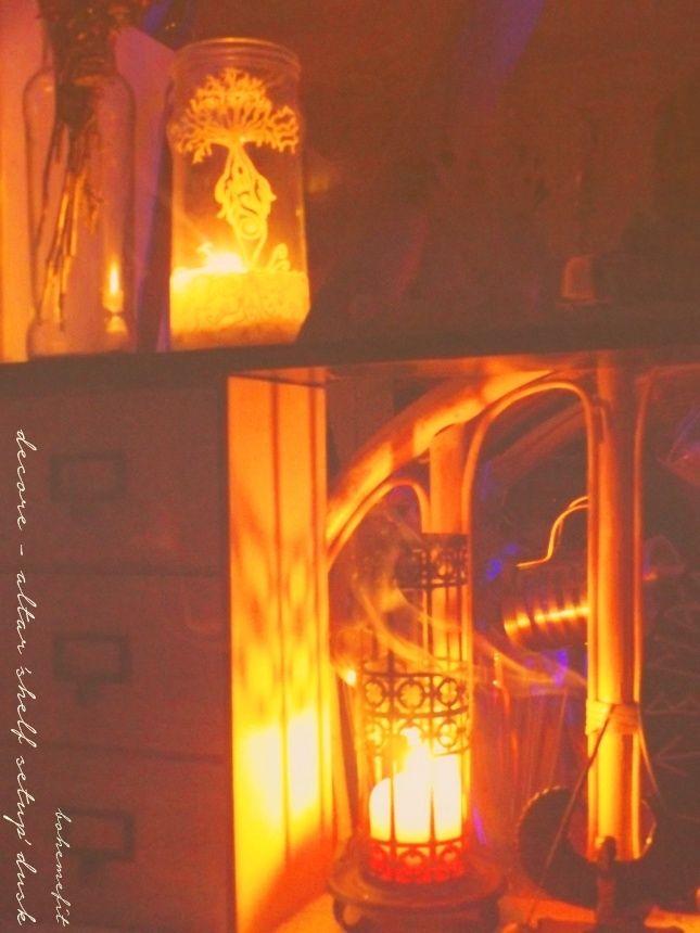 ✧☾ décore - altar 101 'shelf setup' 2016 dusk ☽✧ #bohemefit #magic
