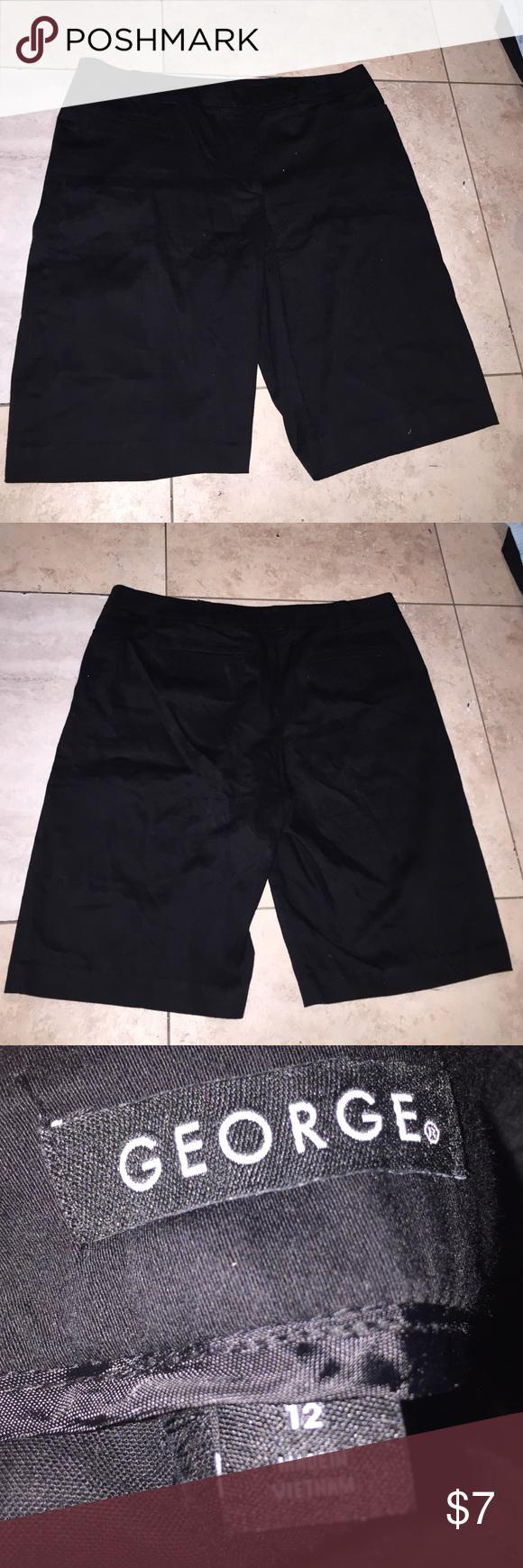 Black Shorts size 12 Nice Black Shorts size 12 very Comfortable George Shorts Bermudas