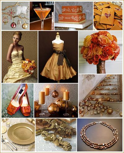 Golden Orange and Brown Weddings Inspiration | Bridal Guide ...