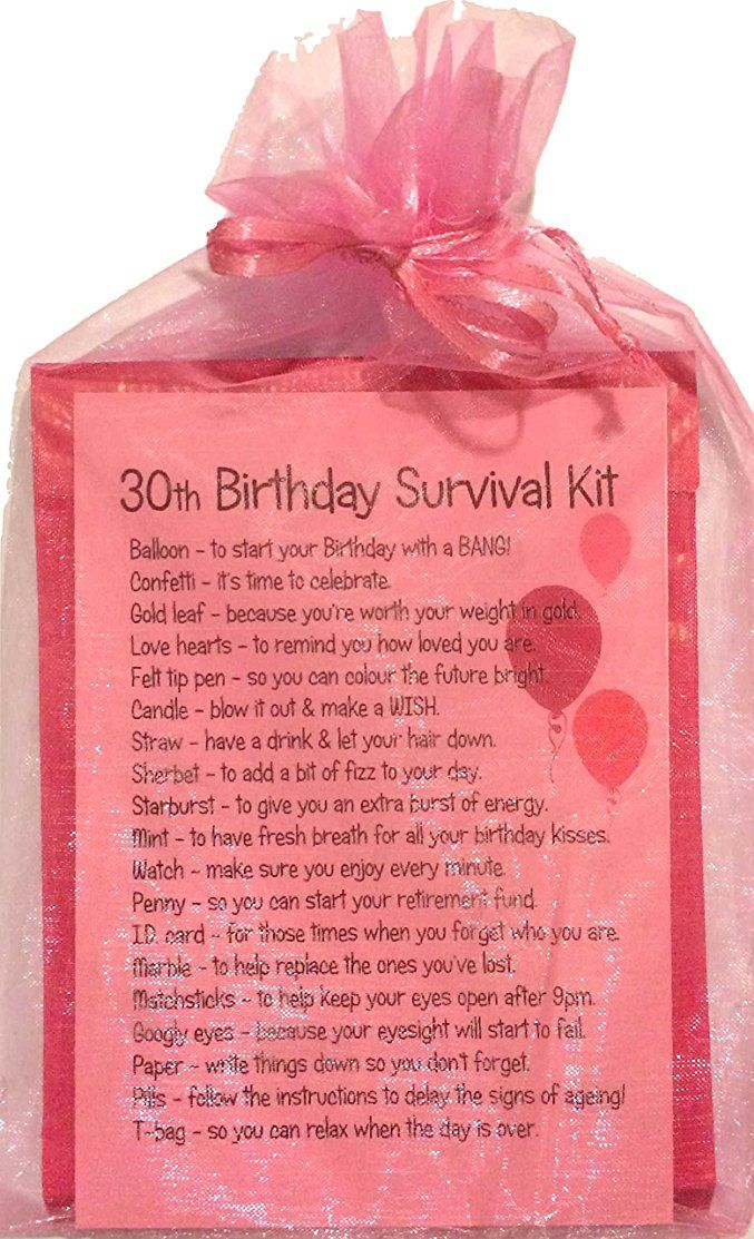 30TH BIRTHDAY SURVIVAL KIT PINK (With images) Birthday