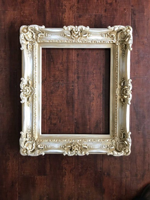 Painting A Mirror Frame Add Distressed Paint With Light Pressure