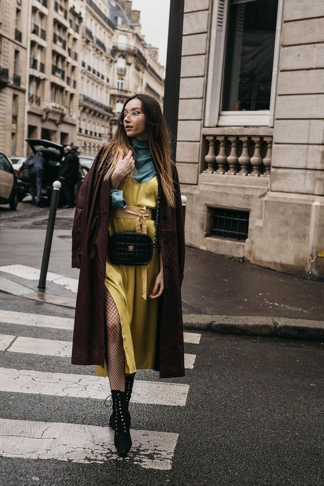 PFW Day 1: Canary Yellow Dress And Surprise Moments