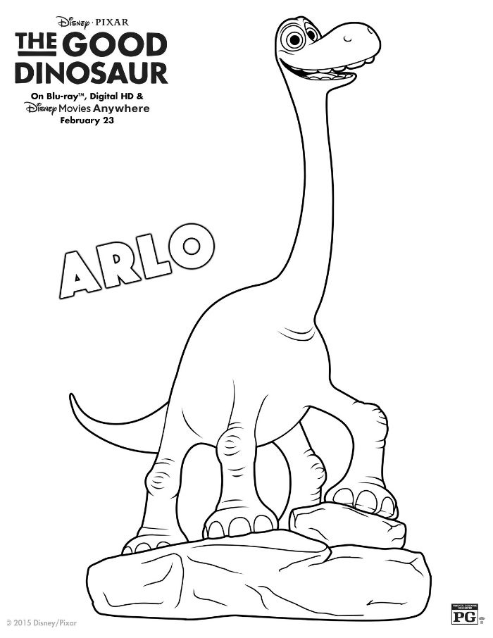 Disney The Good Dinosaur Arlo Coloring Page | Disney | Pinterest