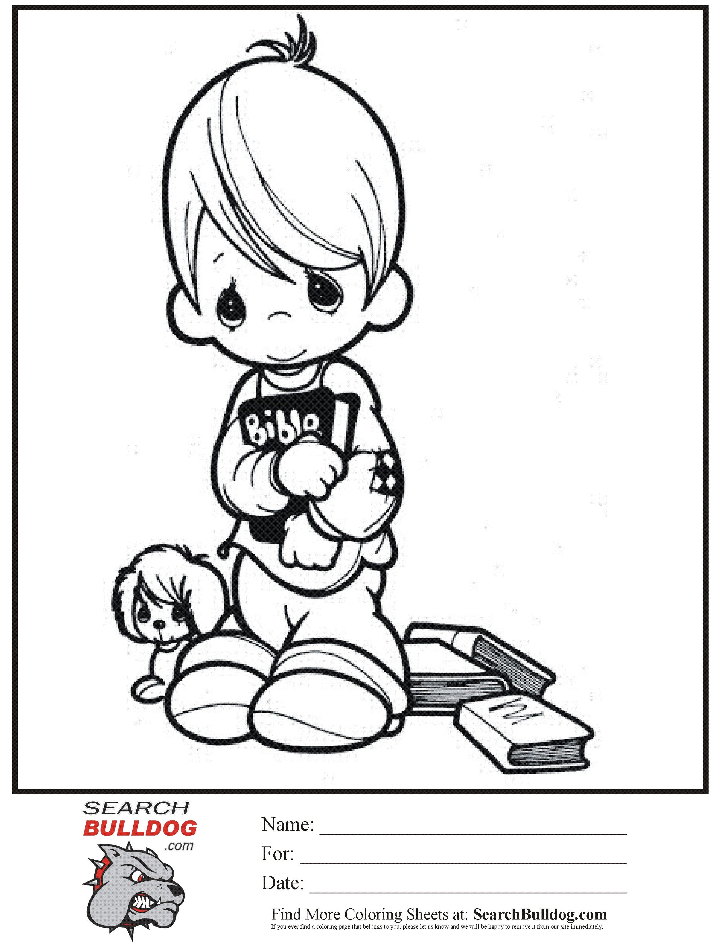 precious moments coloring pages ...
