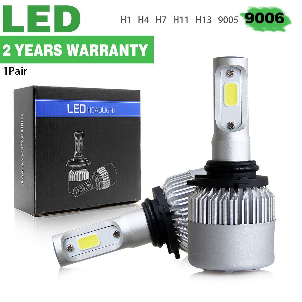 Co Light 1 Set 72w Hb4 Led Bulb Single Beam 8000lm 9006 Led Auto Lamp For Bmw Nissan Hyundai Kia Lada 12v 24v Driving Light Car Lights Led Bulb Led