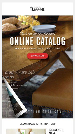 Newsletter from Bassett Furniture Co. | Bassett furniture ...
