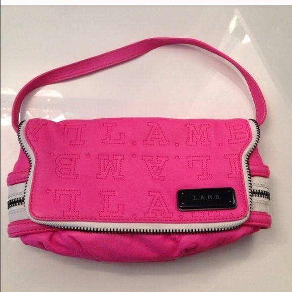 LAMB Hot pink leather purse authentic Gwen stefani