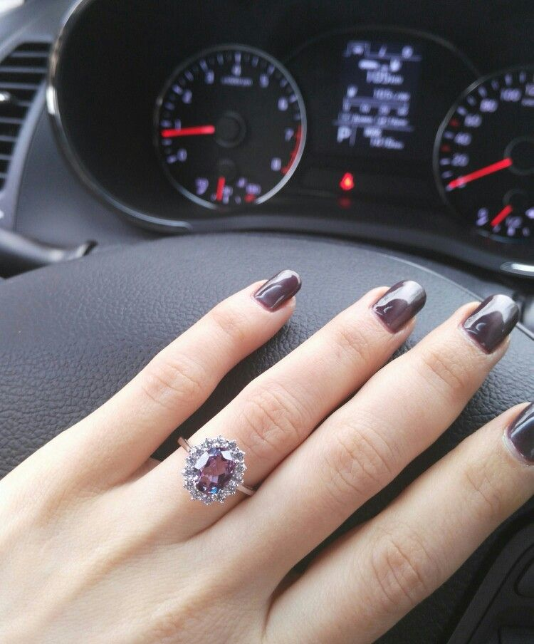 Alexandrite Gemstone Ring For Women 925 Sterling Silver Ring Oval For Engagement