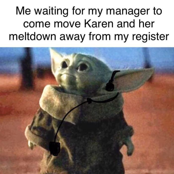 25 Funny Karen Memes Because She Needs To Speak To The Manager In 2020 Karen Memes Yoda Funny Funny Babies