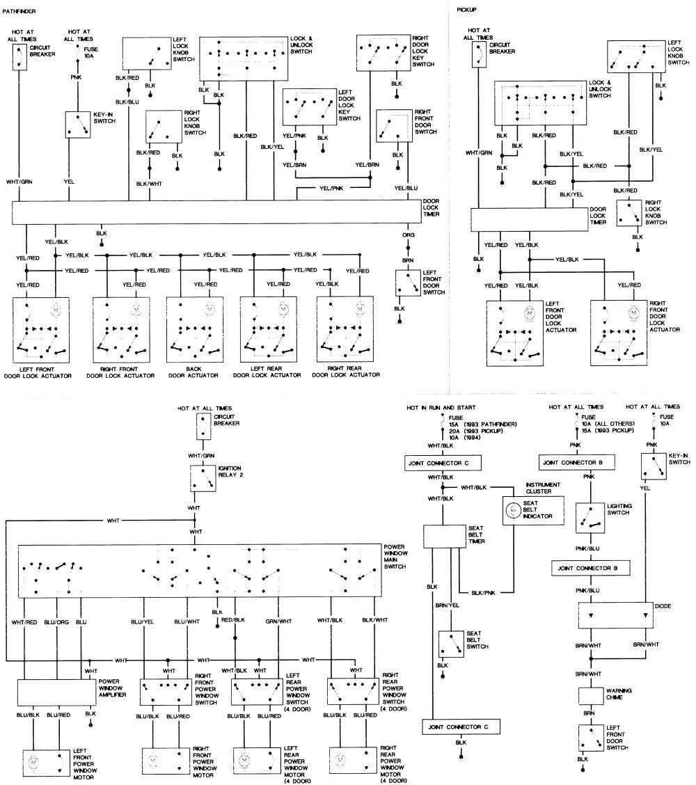 D21 Wiring Diagram In 2020 Nissan Hardbody Nissan Electrical Diagram