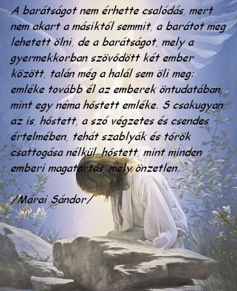 idézetek a csalódott barátságról Márai Sándor a barátságról