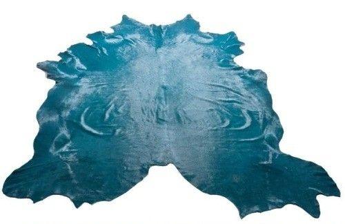 Aegean Sea Blue Cowhide Rug Cow Hide Rug Blue Cowhide Rug