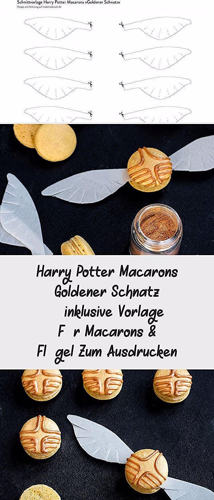 Anleitung Rezept Harry Potter Macarons Goldener Schnatz Inklusive Vorlage Fur Macarons Flugel Zum Ausdrucken Madame Cookie Recipes Food Perfect Cookie