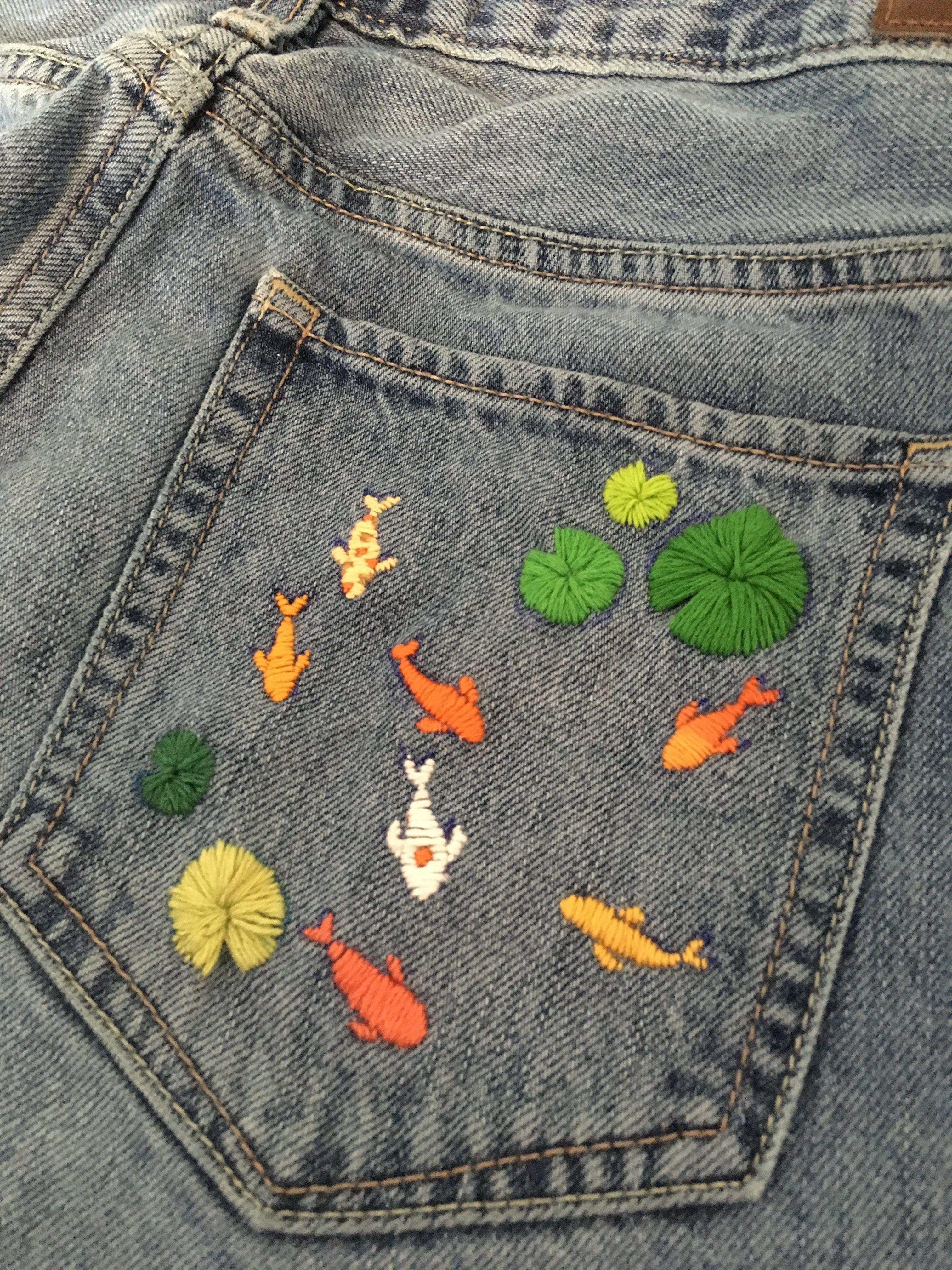 koi embroidery
