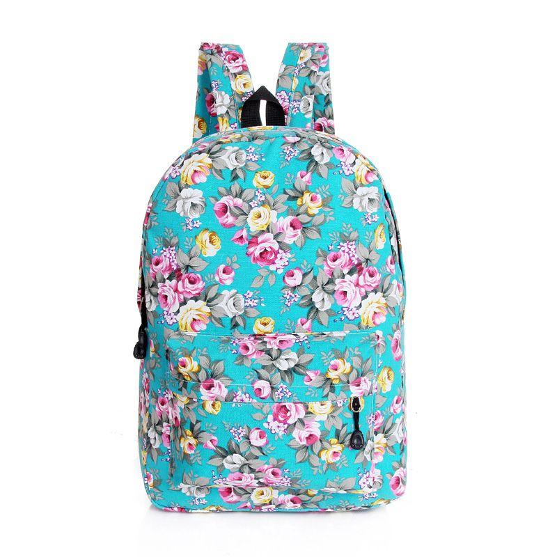 Bolsa Escolar Feminina Adidas : Flor floral impresi?n mochilas mujeres de