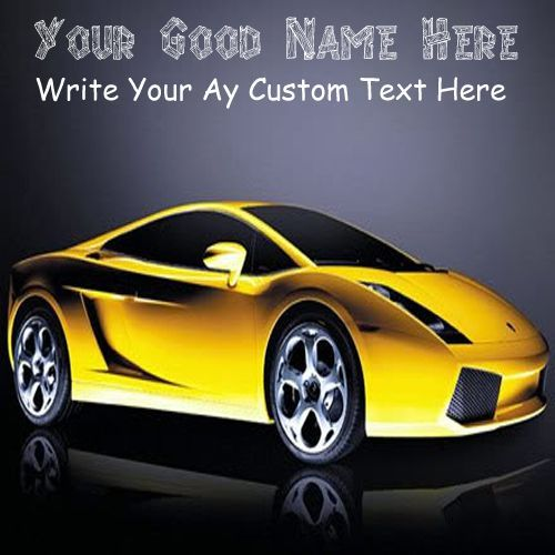 Cool Sport Car Stylish DP Name Pictures