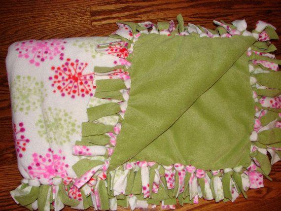 Easy Tie One Hour Fleece Blanket PDF Pattern  by BLISSFULpatterns, $6.00