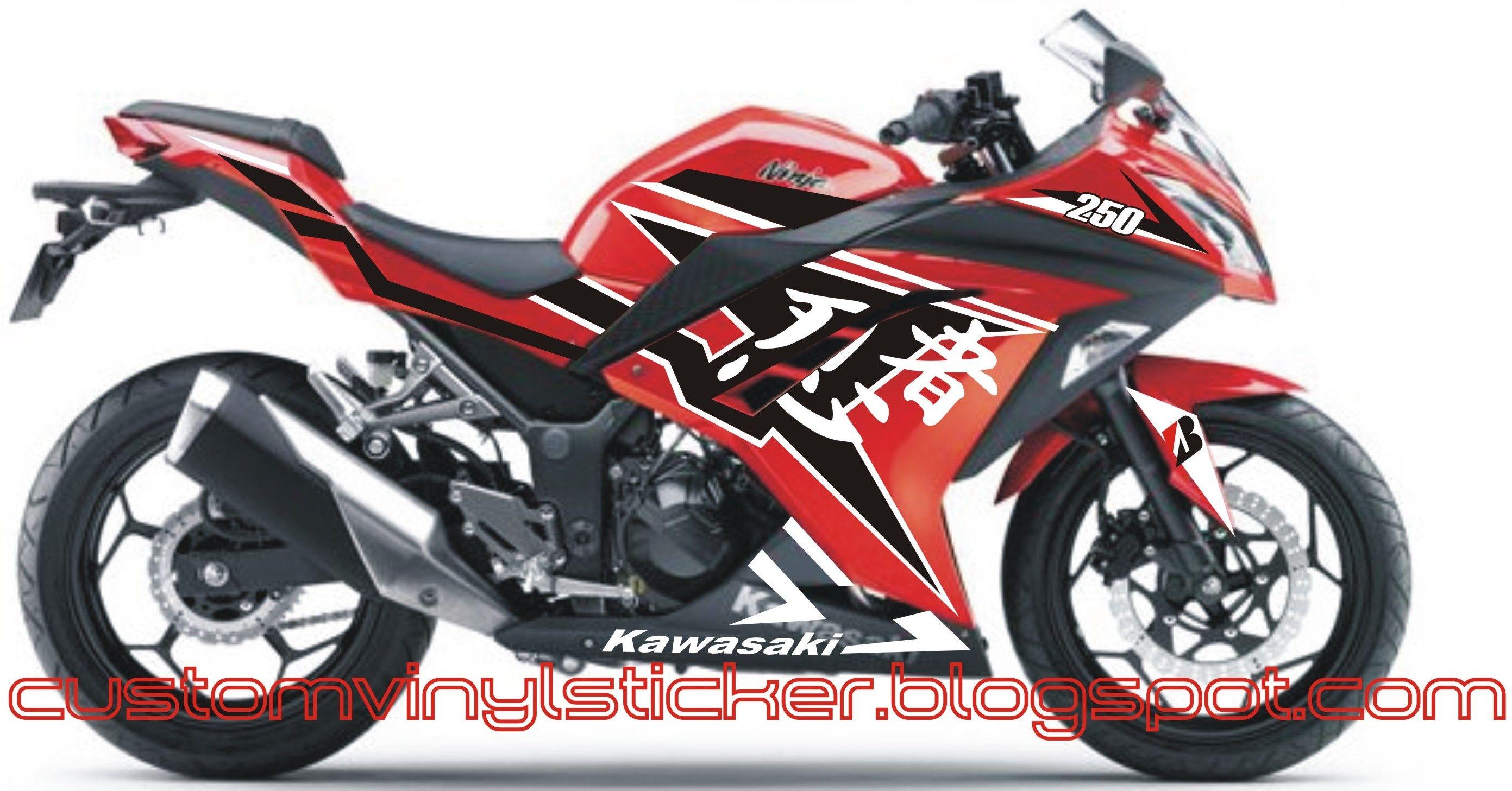 Design sticker ninja 250 - Kawasaki Ninja 250 F1 Red Ninjutsu Custom Sticker Concept