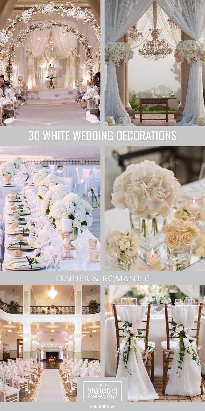 Wedding decor all white   White Wedding Decoration Ideas  Mayraus Bodachera  Pinterest