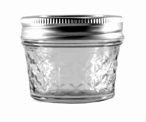 Ball 4 Oz Quilted Crystal Jars With Bands And Lids Small Mason