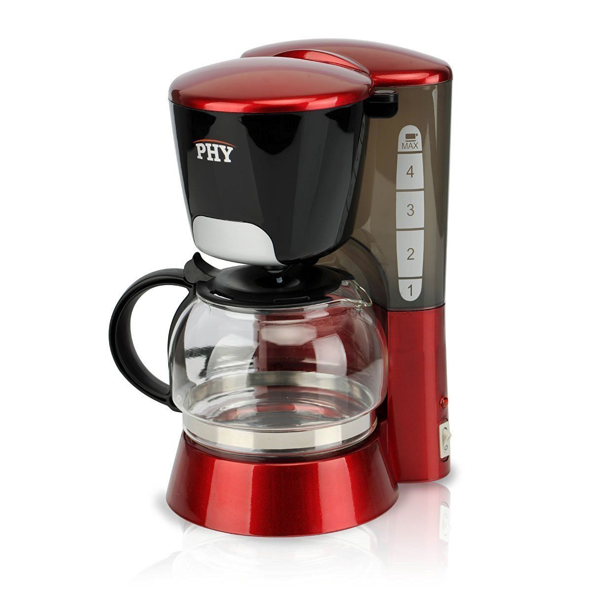 Phy 4 Cup 0 6l Switch Coffee Maker Coffee Maker With Glass Carafe And Permanent Filter And Semi Transparent Wa Coffee Maker 4 Cup Coffee Maker Glass Carafe