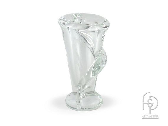 Crystal Calla Lily Vase Sculpture By Art Vannes France