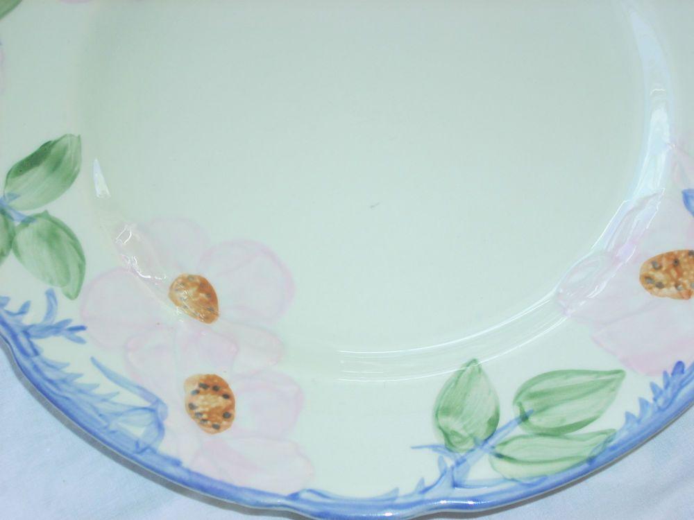 Franciscan Desert Rose Dinner Plates Set of 12 Production & FRANCISCAN u201c TWILIGHT ROSE u201c ( BLUE desert rose ) DINNER PLATE RARE ...