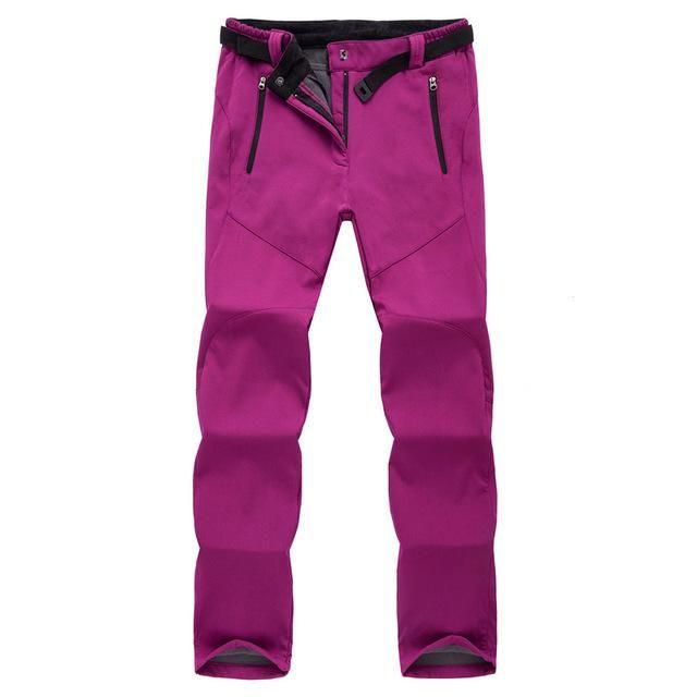 af23f1bd1d Ski Pants Women Solft Shell Pants Plus Size Waterproof Snow Pants Thicken  Fleece Pant Snowboard Trousers