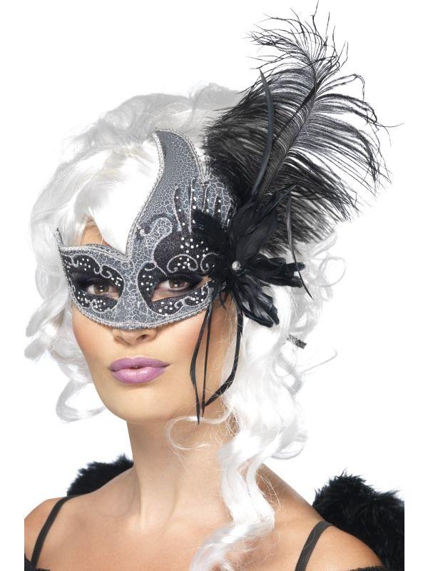 Orné Columbina eyemask adultes femme Smiffys Costume Robe Fantaisie Accessoire