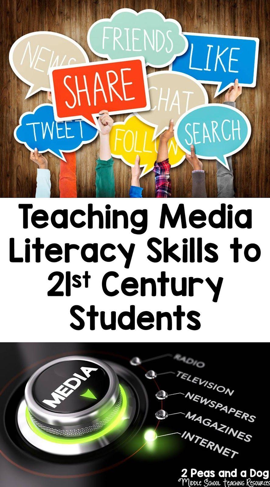 Teaching Media Literacy Skills To 21st Century Students Media Literacy Literacy Skills Literacy Lessons