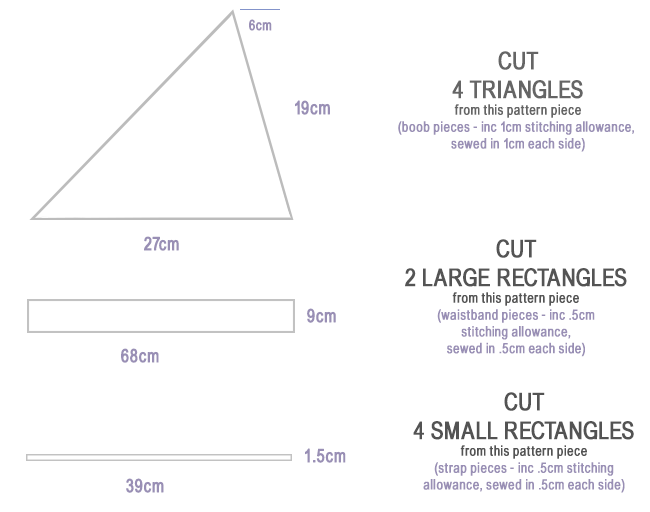DIY triangle bralette top ...clear instructions | DIY Tutorials ...