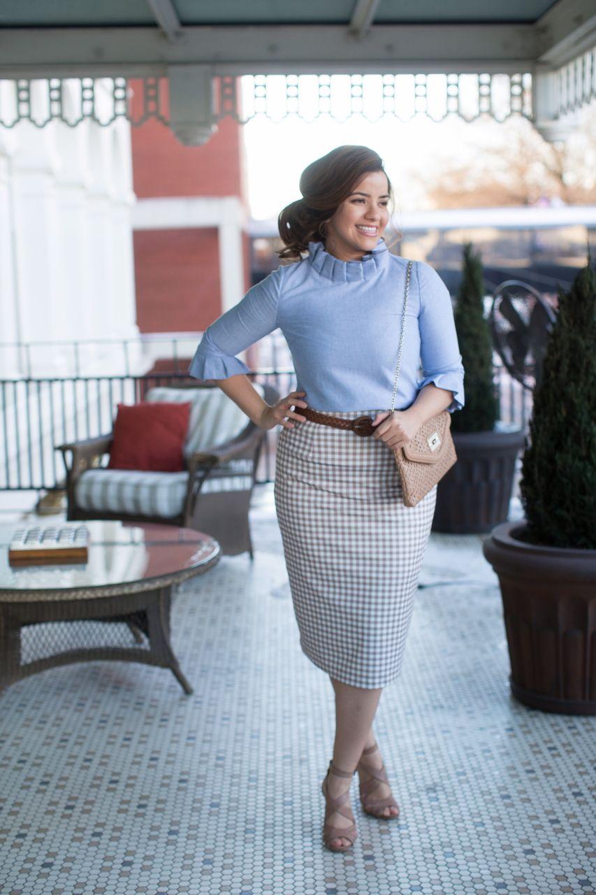 c30bc60b6192 Beautiful modest pencil skirts! Shop bridesmaid styles, modest apparel,  ruffles, lace, and gingham. www.daintyjewells.com