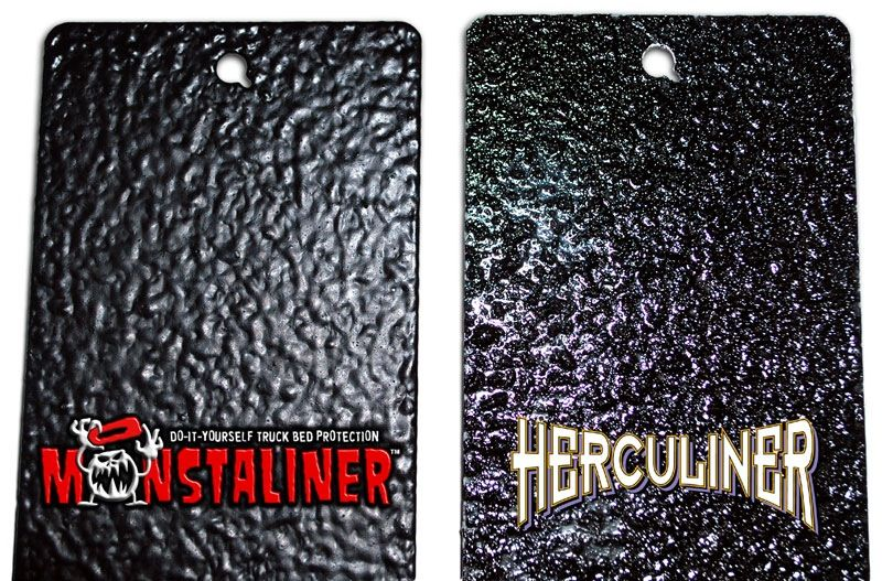 Monstaliner vs. Herculiner Truck bed liner paint, Bed