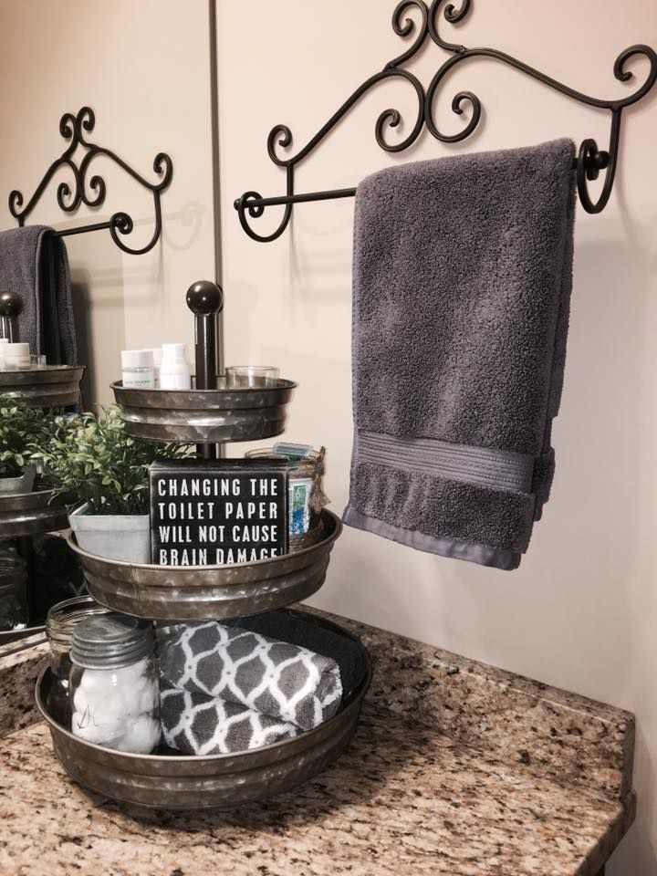 3 tiered tray bathroom home decor pinterest trays for Bathroom ideas towels