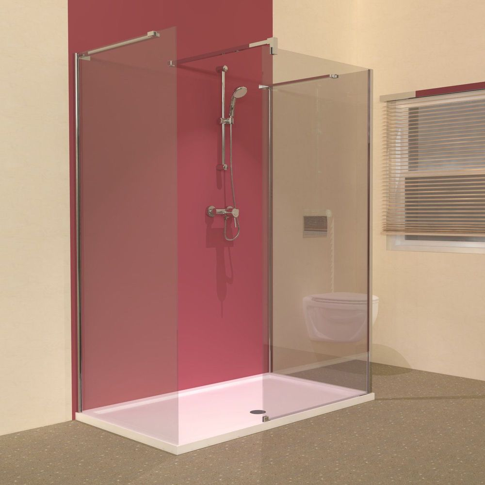 Small Bathroom With Frameless Shower: Line 3 Sided Frameless Walk In Shower