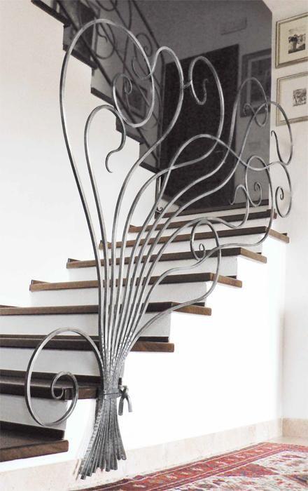 Ringhiere scale interne stile liberty moderno cerca con google wrought iron furniture - Ringhiere per interni ...