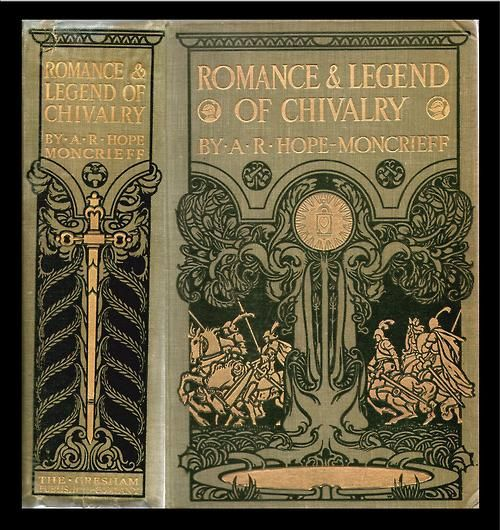 """michaelmoonsbookshop: """" Romance of Chivalry c1910 attractive pictorial covers """""""