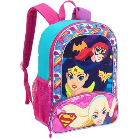 DC Super Girls Trio 16 inch Full Size Backpack, Blue   Products ... a8fca905f7