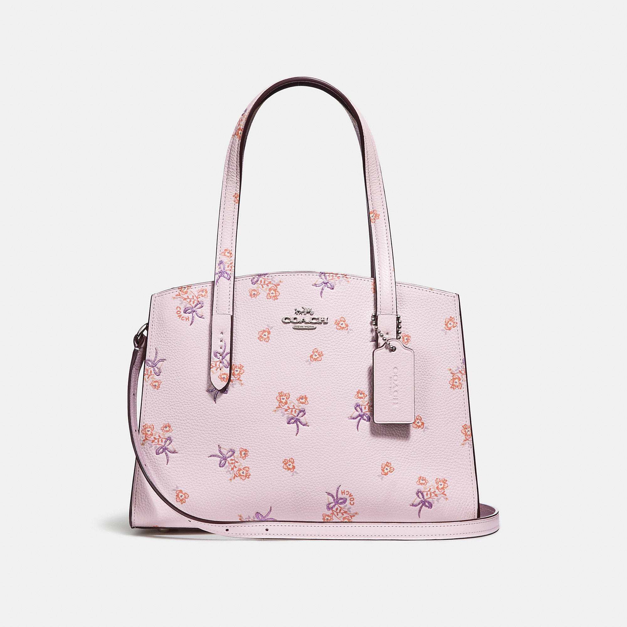 1c2264114823 COACH Charlie Carryall 28 With Floral Bow Print - Women s Designer Handbags