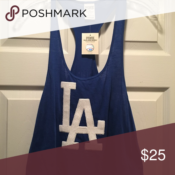 feff87f9233 VS Pink MLB Collection LA Dodgers Racerback Tank