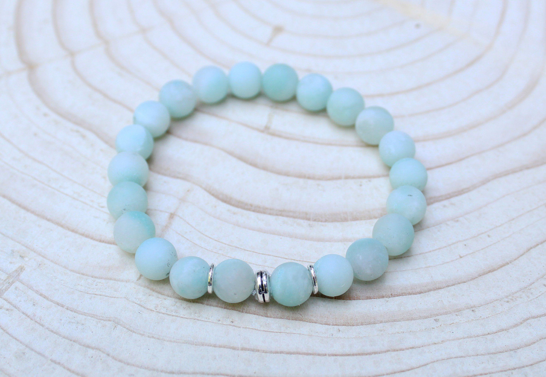 women/'s beaded bracelet mala gemstone mala beads Howlite Mala Bracelet CALM beaded gemstone bracelet gift for her yoga bead bracelet