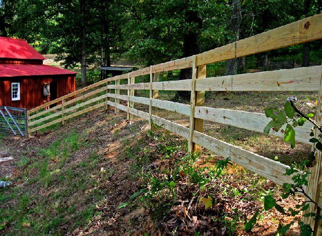 4 Board Post And Rail Farm Fence Wood Fence Gates Wood Fence Farm Fence