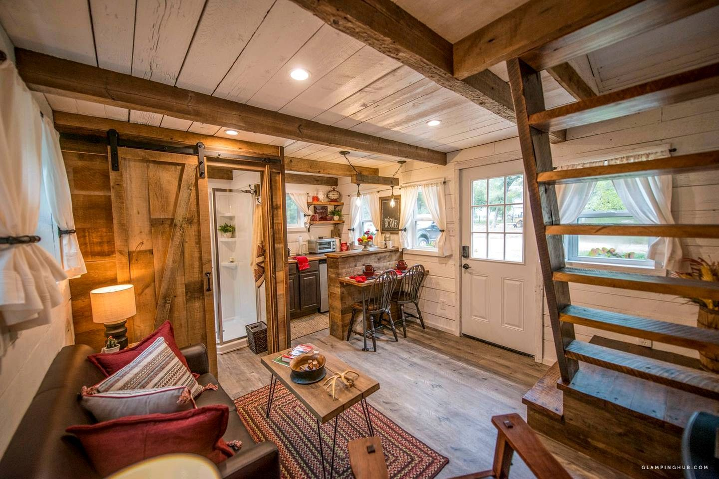Rustic Tiny House Rental For A Peaceful Vacation Near