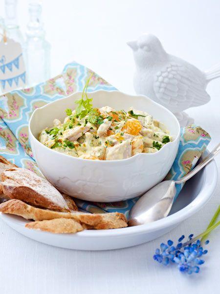 Curry-Geflügel-Salat mit Mandarinen Rezept  | LECKER #chickentacorecipes