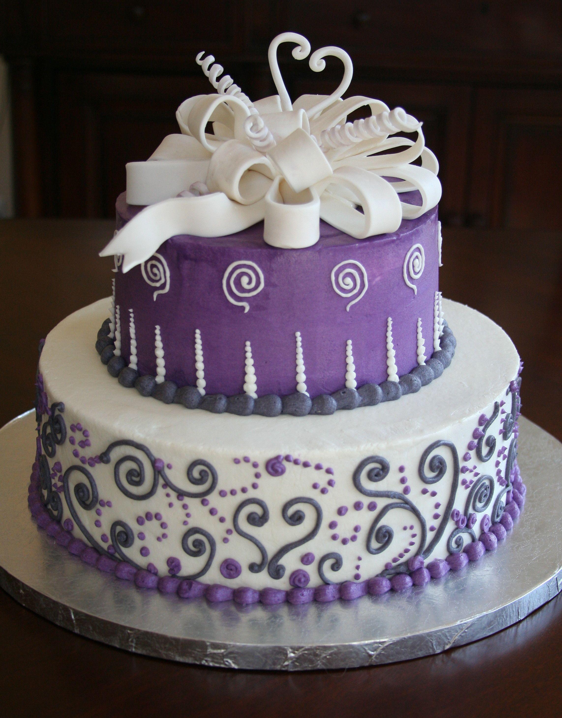 Bridal Shower cake - Fresh flowers - Ravens Bakery of