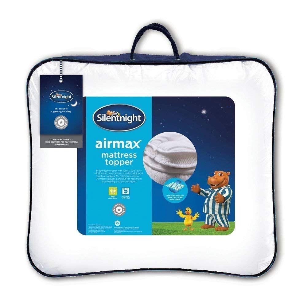 Silentnight Airmax Coprimaterasso Poliestere Bianco Doppio In 2020 Silentnight Mattress Topper Mattress