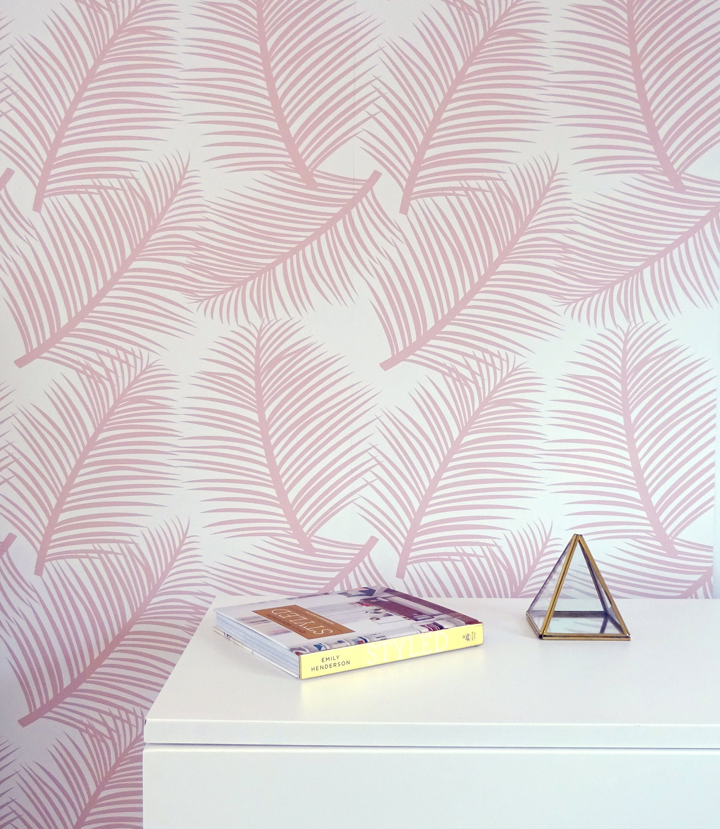 This Stunning Wallpaper In A Delicate Blush Shade Allows You To Add A Light And Airy Yet Elegant Element Tree Wallpaper Bedroom Pink Wall Decor Tree Wallpaper