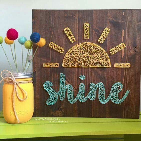 Pin by kimberly fischer on crafts pinterest string art craft string art sun and shine prinsesfo Gallery