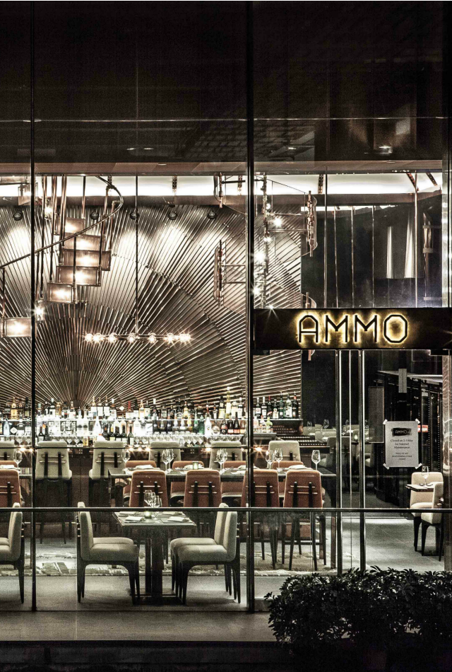 Ammo is a restaurant and bar in hong kong china